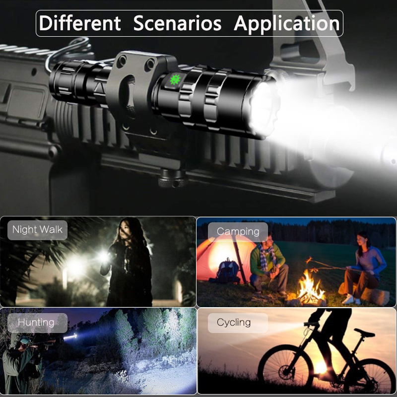 Купить с кэшбэком 6000Lums Tactical LED Flashlight Ultra Bright L2 Hunting light USB Rechargeable Waterproof Torch  light 5 Modes by 1*18650