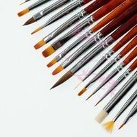 1 Set 16pcs Acrylic Polish UV Gel Painting Drawing Pen Brush Kit Dotting For Nail Art Tips Manicure Design Decoration DIY Tools
