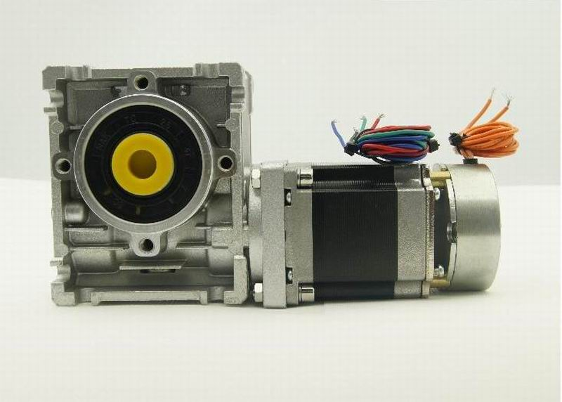 Worm reducer Ratio 5:1/7.5:1/10:1/15:1/30:1/60:1 NEMA23 Worm Gearbox Stepper Motor with brake and output shaft motor length 56mm jetley 1 a0335