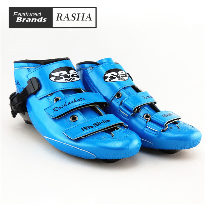 Prix pour Carbone bleu Couleur inline fait pipi chaussures de patinage Professionnel patins à roulettes enfant adulte de patinage de vitesse boot hommes/femmes patins quad
