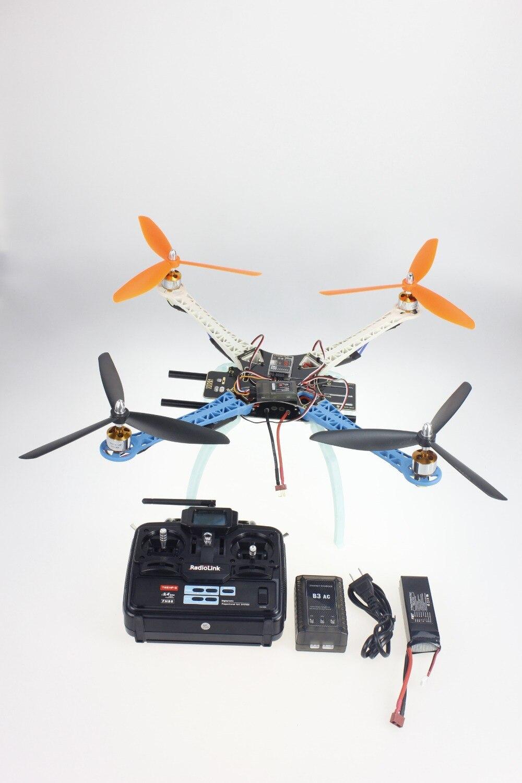 JMT DIY Drone Upgraded Full Kit S500-PCB Frame 1045 3-Propeller 4axle Multirotor RC 6CH QuadCopter UFO RTF / ARF jmt diy drone f550 multi rotor full kit 1045 3 props 6 axle rc multi hexac