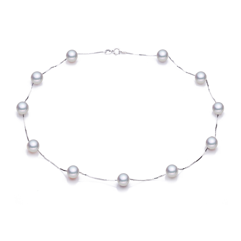 Sinya Freshwater pearls jewelry Babysbreath necklace 925 sterling silver choker fashion design hot sale gift for women ladiesSinya Freshwater pearls jewelry Babysbreath necklace 925 sterling silver choker fashion design hot sale gift for women ladies