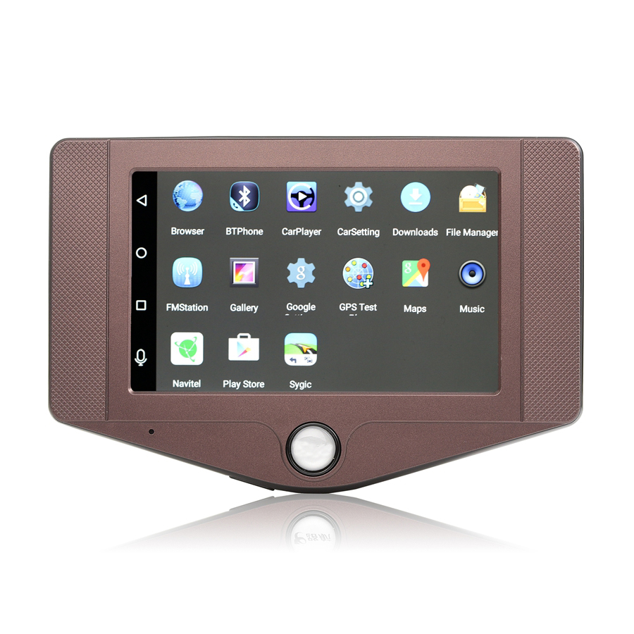 Udricare New 3G SIM Card 4 4.3 inch Car GPS DVR Android 5.0 GPS Navigation WiFi Bluetooth Phone Call Mini Hidden Dash Cam GPS