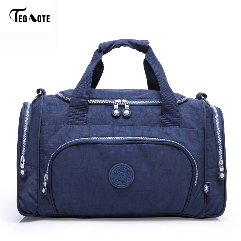 TEGAOTE Female Handbags Wonens Travel Bag Famous Brand Bolsas Feminia Nylon Luggage Travel Duffle Bag Women Shoulder Casual Tote tegaote newest women travel bags large capacity duffle luggage big casual tote bag nylon waterproof bolsas female handbags
