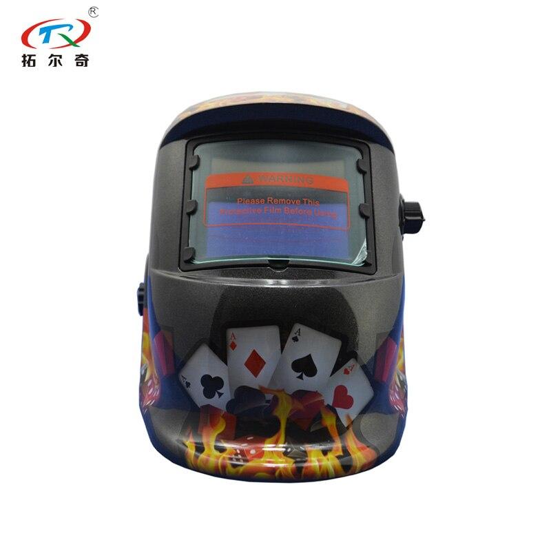 Face Auto Shied Easy Helmet Auto Cap Full God Gamblers Lens Of Darkening Welding Darking