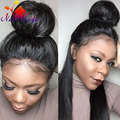 7a brazilian lace front wigs straight black women silky straight heat resistant black cheap wigs with baby hair for black women