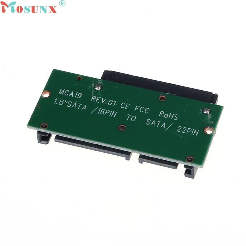 Mosunx SimpleStone 1.8 Inch Micro SATA HDD SSD 3.3V to 2.5 Inch 22PIN SATA 5V Adapter 60321 корпус для hdd orico 9528u3 2 3 5 ii iii hdd hd 20 usb3 0 5