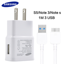Fast charger travel charger samsung galaxy s5 note 3 100% Original Adaptieve Quick Charge 5.3V 2A Charging plug USB 3.0 cable s5
