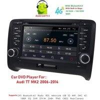 Car Multimedia Player 2 Din Android 9 For AUDI TT MK2 8J 2016 2007 2008 2009 2010 2011 2012014 GPS Navigation System Radio DVD