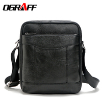 OGRAFF Genuine Leather Bag Men Crossbody Bags Men Messenegr Bag Briefcases High Quality Leather Bags 2017