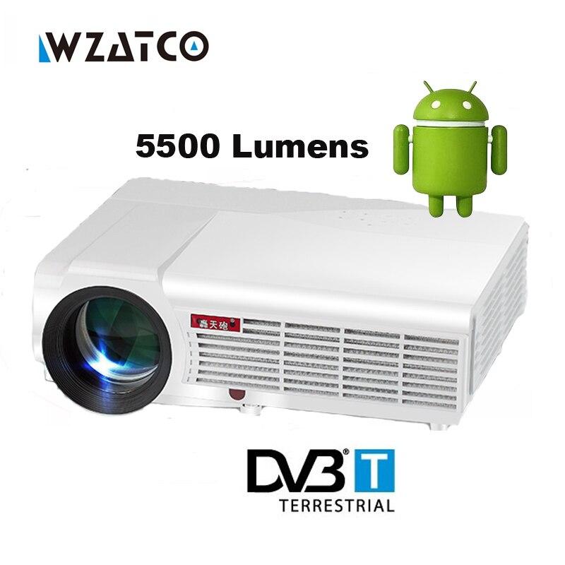Prix pour Android 4.4 5500 lumens 1080 P 3D LED Projecteur Full HD diapositive montre proyector cellulaire téléphone mobile numérique multimédia beamer HDMI