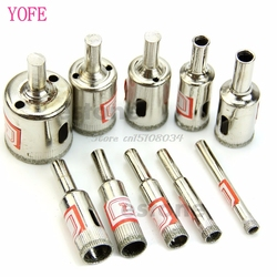 10Pcs Diamant Beschichtet Core Loch Sah Bohrer Set Werkzeuge Für Fliesen Marmor Glas S08 Großhandel & DropShip