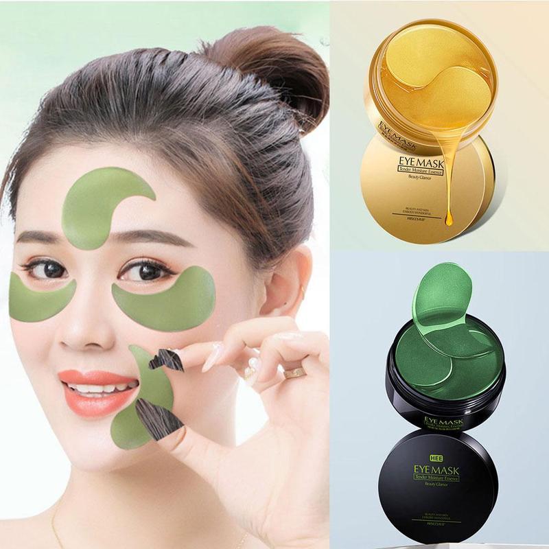 60pcs Gold/Seaweed Collagen Eye Mask Anti Wrinkle Gel Sleep Eye Patches Collagen Under The Eye Bags Dark Circles Eye Pads 5
