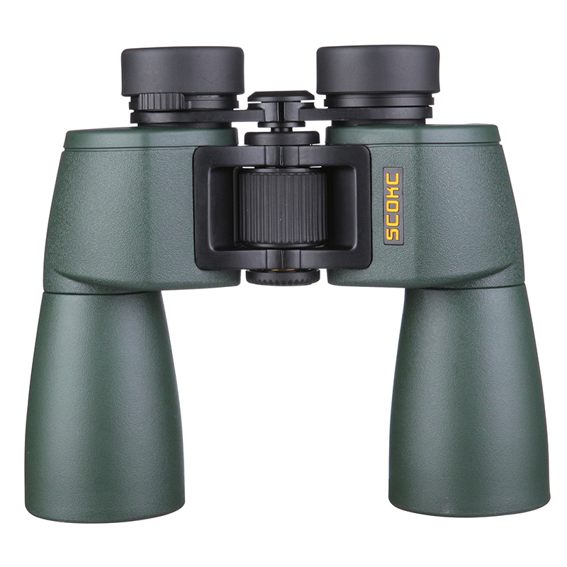 SCOKC Wide Angle Powerful hd 10x50 binoculars bak4 FMC power zoom long range telescope binoculars telescope wide angle hunting шина kumho marshal mu12 225 55 zr17 101w