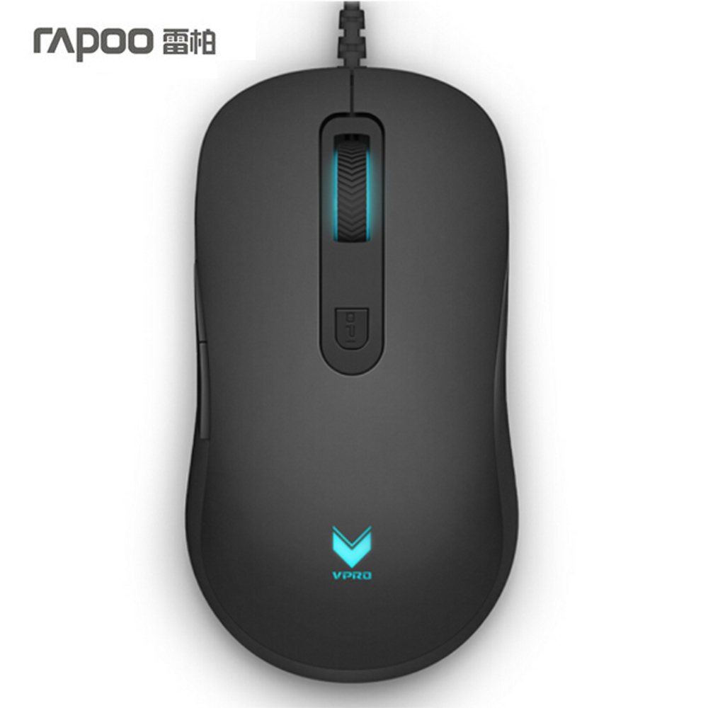 RAPOO V22 Optical Gaming Wired Mouse 3000DPI Programmable 7-Button Computer Mice new rapoo v22 programmable gaming mouse 3000dpi 7 buttons backlit usb wired optical mouse gamer for pc computer laptop