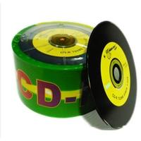 Blank DJ Black Printed CD 50/lot Drives CD R Disks Bluray 700MB 80min 52X Branded Recordable Media Disc 50PK Spindle Write