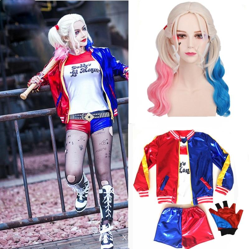 Dames Adlut Harley Quinn Kostuum Cosplay JOKER Suicide Squad Kerstmis - Carnavalskostuums
