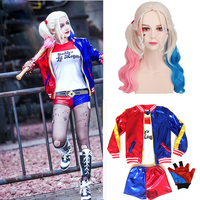 Suicide Squad Costume Adlut Harley Quinn Cosplay JOKER Purim Jacket Sets Suits Christmas Halloween Party Costume