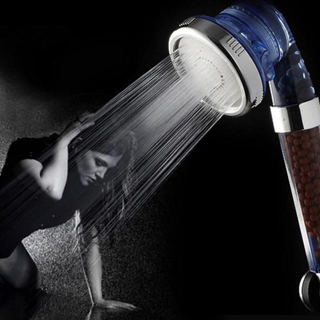 Negative Ion SPA Filtered 3 Modes Adjustable Shower Head with Shower Hose Three Shower Mode Negative Lon SPA Shower Head