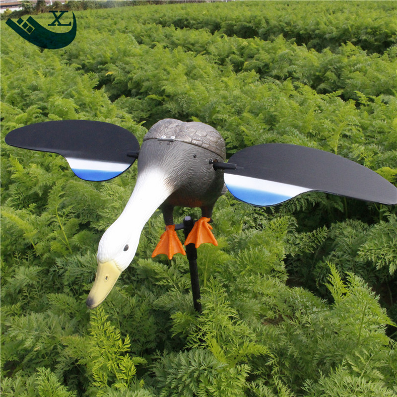 ФОТО 2017 Free Shipping Hunting Accessories Duck Decoy Equipment Remote Control 6V With Magnet Spinning Wings