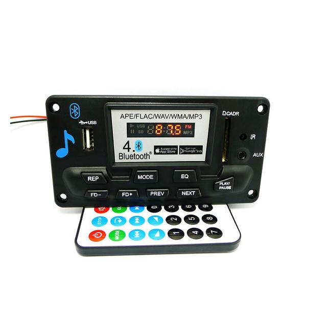 Alta Calidad MP3 WAV WMA APE Bluetooth 4.0 Audio Decoder Junta Con Grabación de 12 V