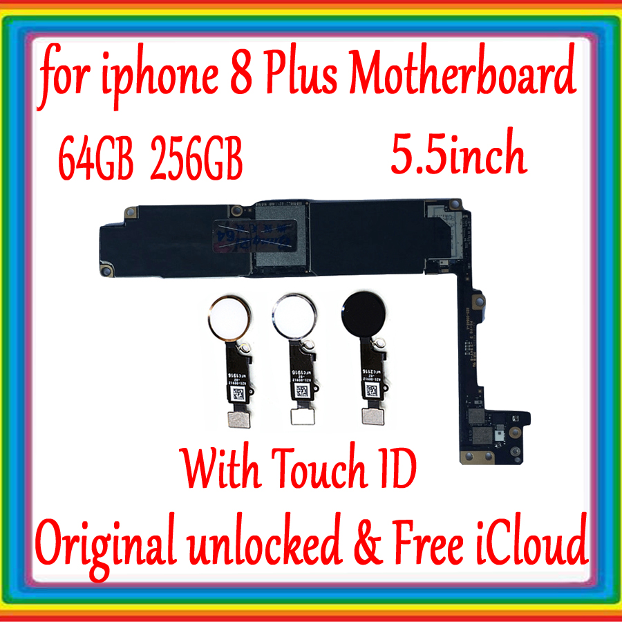 Black White Gold for iphone 8 Plus Motherboard with Clean iCloud,Original unlocked for iphone 8P 8Plus Mainboard with Touch IDBlack White Gold for iphone 8 Plus Motherboard with Clean iCloud,Original unlocked for iphone 8P 8Plus Mainboard with Touch ID