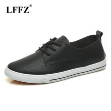 Lzzf 2018 Spring Shoes Woman Slip Ons Loafers Shoes Casual Leather Women  Ladies Flat Zapatos Mujer Flats Tenis Mocasines Mujer d60da41b314a
