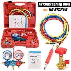R134A HVAC A/C Koeling Kit AC Manometer Set Auto Service Kit Auto Airconditioning Reparatie Fluor Vullen tool