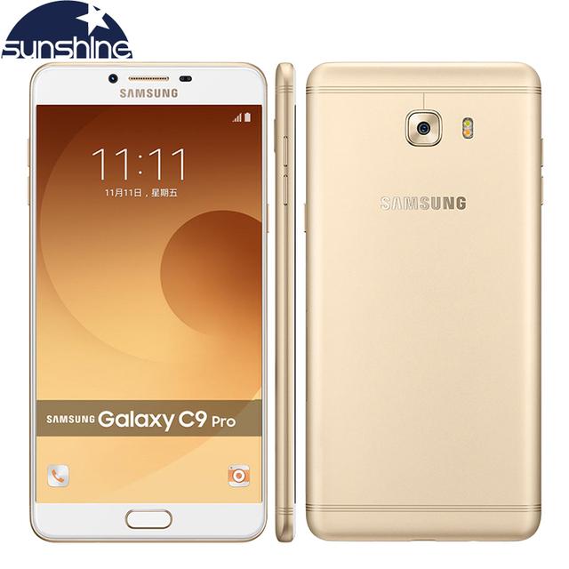 Original samsung galaxy c9 pro c9000 4g lte teléfono móvil android Octa core 6.0 ''16.0MP 6G RAM 64G ROM 4000 mAh NFC Celular teléfono