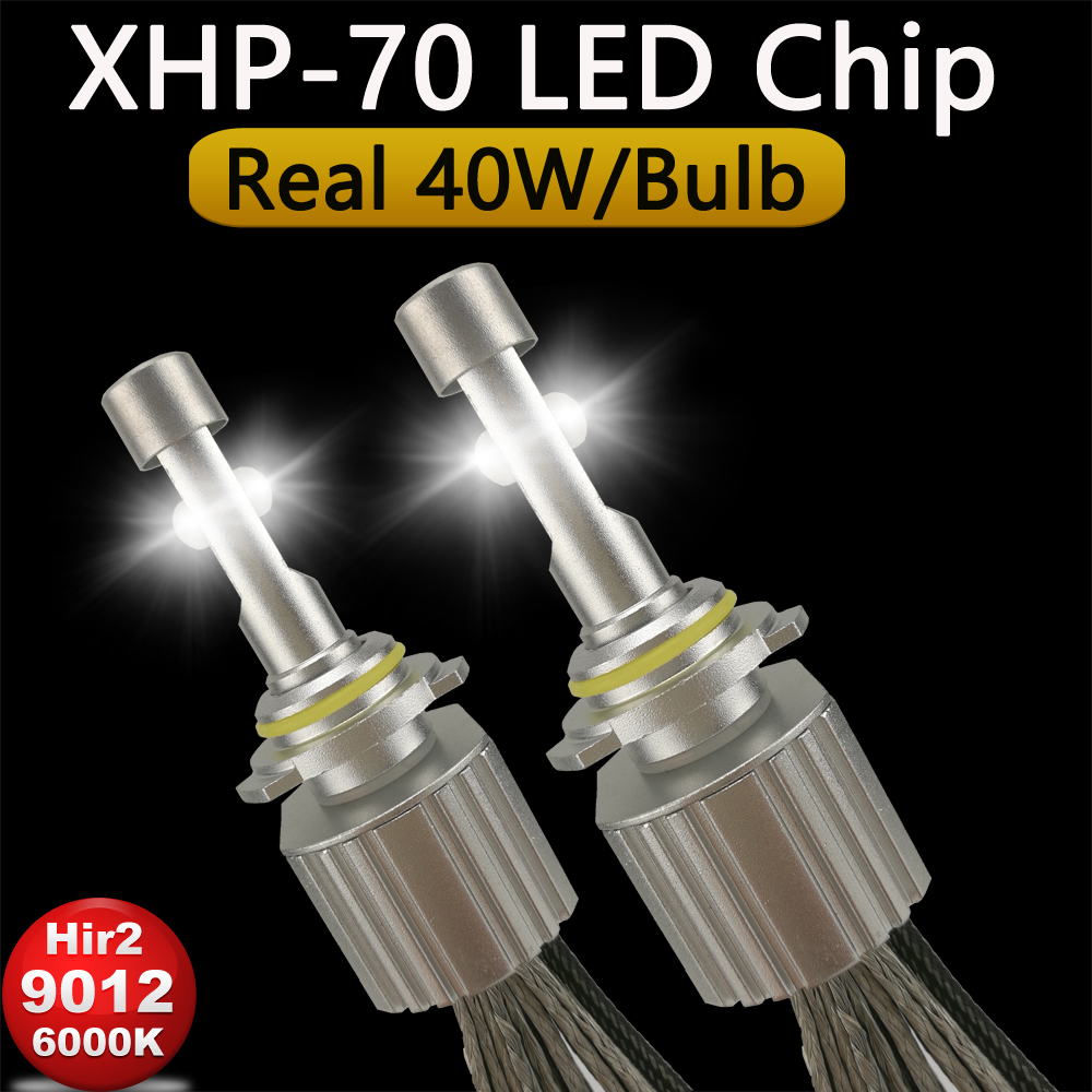 OCSION Hir2 9012 LED Headlight bulbs 110w 13200lm 6000K XHP70 Chips Automotive Car Headlamp Conversion Kit H7 H11 9005 9006 H4 one set car led headlight bulbs 13200lm 110w h7 h11 h1 h4 9005 9006 white 6000k led headlight conversion kit