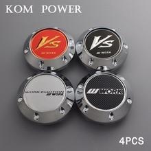 KOM 4pcs/lot 64.5mm blank badge hubcaps work racing wheel center cap vs logo emblem rims universal no logo clip 56mm/2.2 inch цена и фото