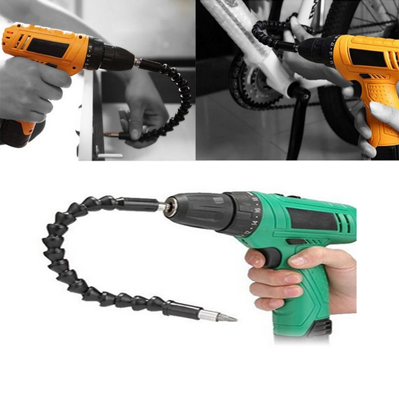 290mm Flexible Shaft Bits Drill Power Bits Extension Indexable Drill Bit Extension Screwdriver Kit Connection Link Holder flex flexible bendable extended magnetic shaft screwdriver bit holder 1 4 hex drive drill bit extension rod with keyless chuck