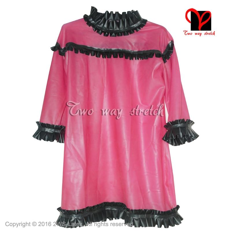 764 Latex Rubber Gummi Jacket Cape Coat dress catsuit customized 0.4mm outerwear