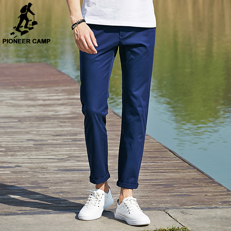 Pioneer Camp 2017 new casual pants top quality pants men brand straight cotton male pant thin brand clothing male trouser 655111