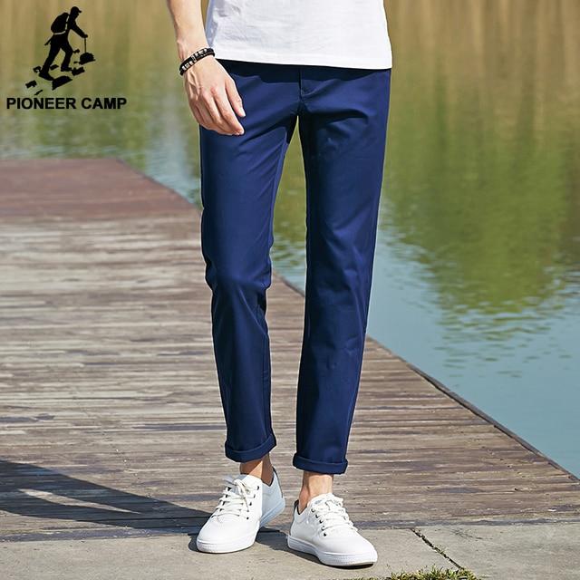 Pioneer camp 2017 nuevos pantalones casuales pantalones de los hombres de calidad superior marca marca de ropa masculina pantalones de algodón recto masculinos de las bragas finas 655111