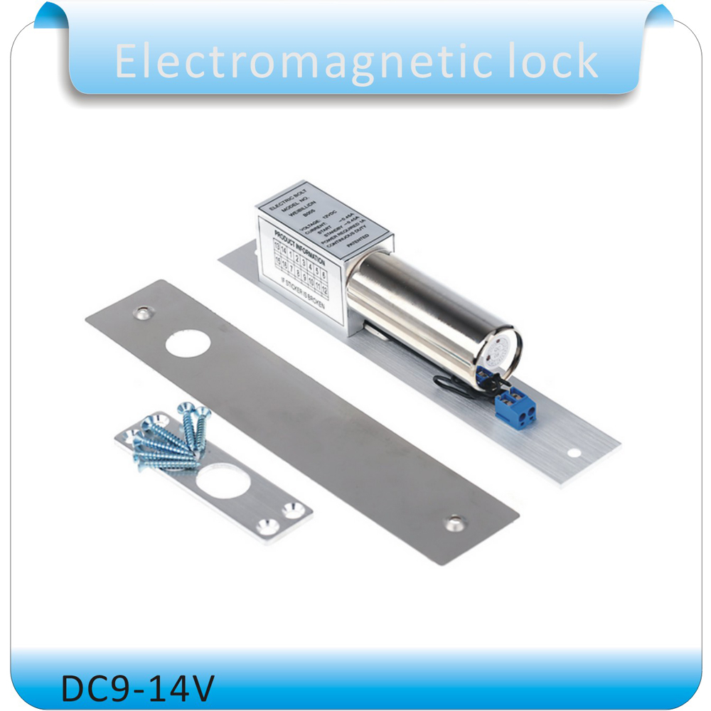 Drop Bolt Electric Door Lock Electronic Lock Magnetic Induction Auto Deadbolt For Security Access Control System DC 12V