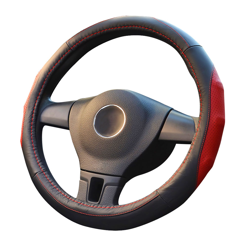 Cover On The Steering Wheel 38cm Leather Auto Car Accessories Soft Car Steering Wheel Covers Universal