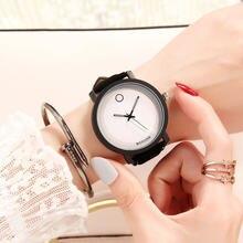 Simple con estilo minimalista mujeres hombres Casual relojes de moda Unisex  reloj de cuarzo reloj masculino amantes pareja horas. f76f38893a7f