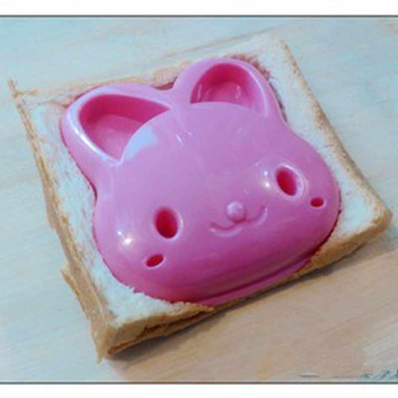 1pc กระต่ายรูปตัดแซนวิชขนมปังคุกกี้เค้กตัดแม่พิมพ์ DIY อาหารเช้าภาชนะร้อนอุปกรณ์ครัวเครื่องมือ