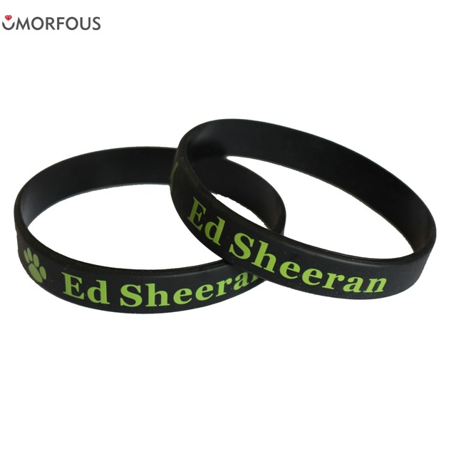 Hot Sale 1PC Ed Sheeran Silicone Wristband Black Music Band Silicone Bracelets & Bangles for Fans Gift ...