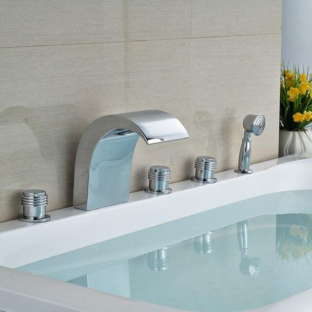 Design moderno Bagno Vasca Da Bagno Miscelatore Rubinetto con Acqua ...