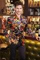 Новый Цветок пиджак пиджак мужской тонкий мода мужская мода личности плоским байки печати пальто высокого качества пром жених