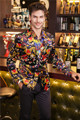 new Flower blazer jacket male slim fashion men's fashion personality flat flannelette print coat high quality prom groom