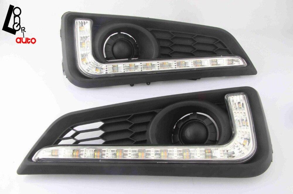 стайлинга автомобилей светодиодными фарами дневного света DRL двусторонние для города 2014-2015