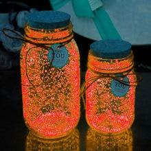 10g Luminous Party DIY Bright Glow in the Dark DIY Paint Star Wishing Bottle Radiationless Fluorescent Powder Nail Glitter Toys все цены