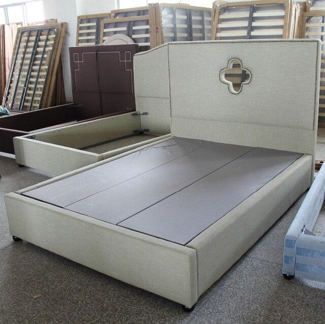 Suave cabecero de cama cama de tejido de muebles europeos estilo ...