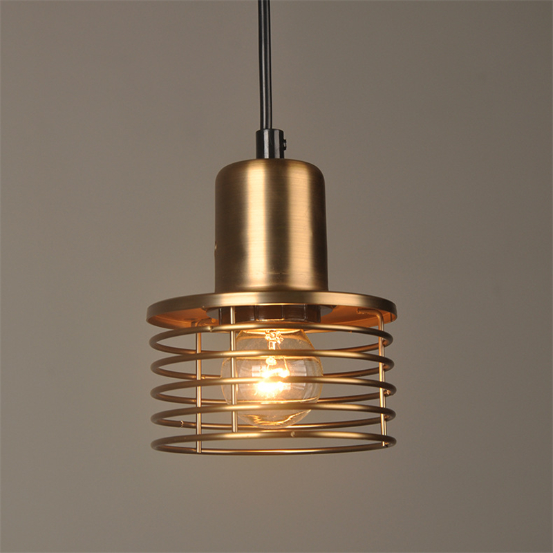 Loft Vintage Gold Hanging Light Retro Pendant Lamp for Home Salon Deco Bedroom Bed Living Dining Room Kitchen Luminaria FixtureLoft Vintage Gold Hanging Light Retro Pendant Lamp for Home Salon Deco Bedroom Bed Living Dining Room Kitchen Luminaria Fixture