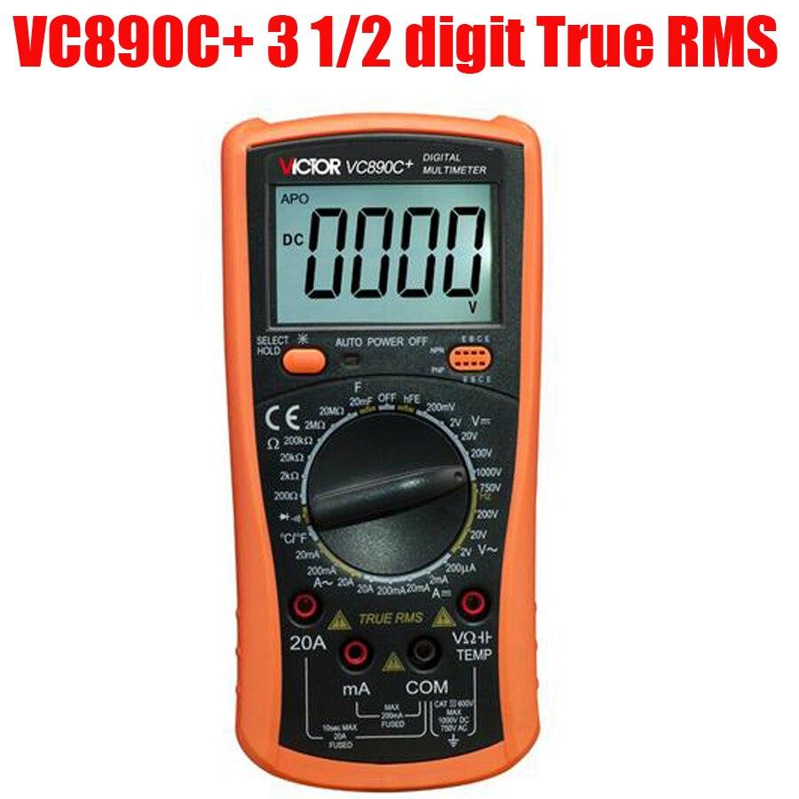 ФОТО VC890C+ 3 1/2 digit True RMS Digital Multimeter Backlight display multimeter capacitor Operation mode: manual range