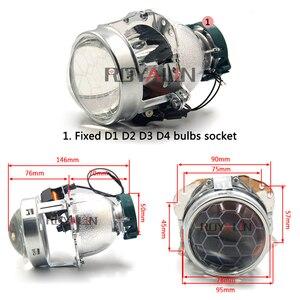 Image 3 - ROYALIN проектор фары bi xenon объектив EVOX 2,0 D2S лампы для BMW E39 E60 Ford Audi A6 C5 C6 W211 Passat B6 Skoda Fabia