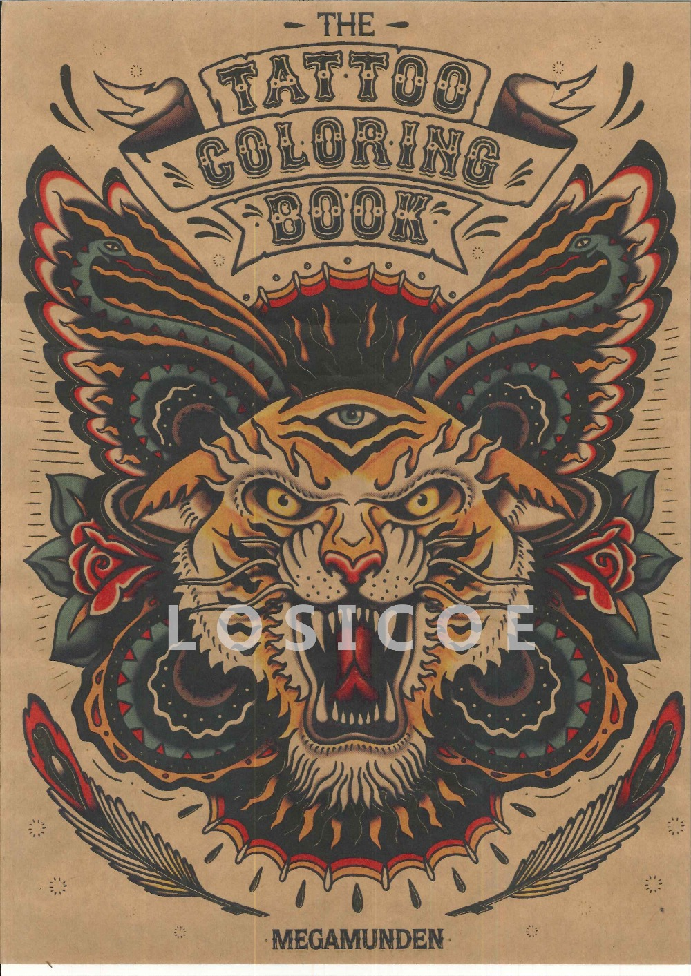The tattoo coloring book megamunden - Tattoo Coloring Book